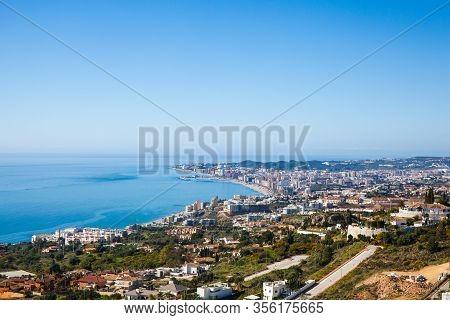 Fuengirola. Aerial View Of Fuengirola. Costa Del Sol, Malaga, Andalusia, Southern Spain.