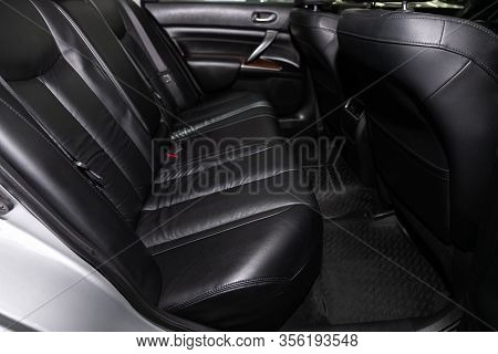 Novosibirsk, Russia - March 07, 2020: Nissan Teana, Leather Interior Design, Car Passenger And Drive