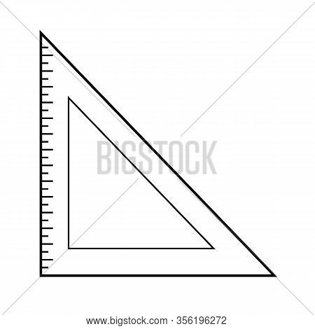 Measurement Ruler Icon On White Background. Flat Style. Ruler Icon For Your Web Site Design, Logo, A