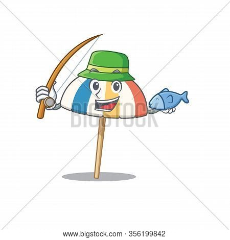 A Picture Of Funny Fishing Beach Umbrella Design