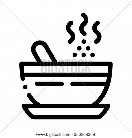 Herbal Infusion For Yoga Meditation Icon Vector. Outline Herbal Infusion For Yoga Meditation Sign. I