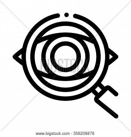 Eyeball Diagnostics Icon Vector. Outline Eyeball Diagnostics Sign. Isolated Contour Symbol Illustrat