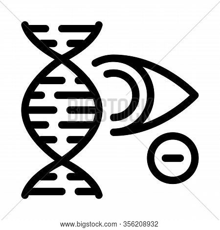 High Chance Of Eye Disease Through Genetic Linkages Icon Vector. Outline High Chance Of Eye Disease