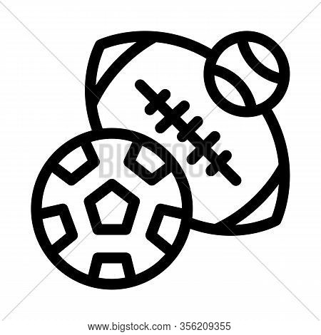 Football Rugby Baseball Icon Vector. Outline Football Rugby Baseball Sign. Isolated Contour Symbol I