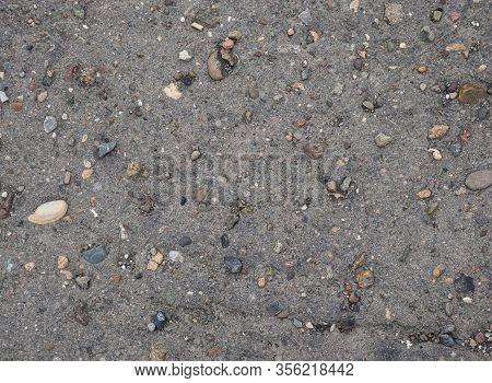 Stone Concrete Ground Surface Texture, Concrete Road With Stones