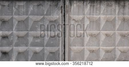 Two Concrete Walls , Ussr Concrete Fence , Fence Seam