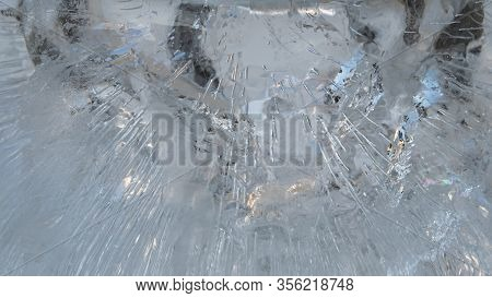 Frost Texture, Ice Surface, Frosted Water Background