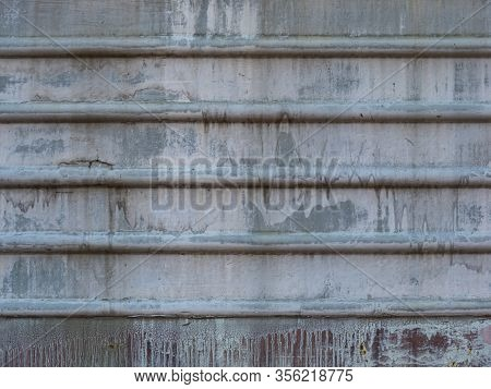 Metal Sheet Of The Train, Metal Wall With The Horizontal Lines, Metal Wall Background