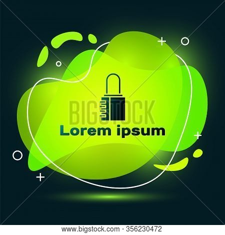 Black Safe Combination Lock Icon Isolated On Black Background. Combination Padlock. Security, Safety
