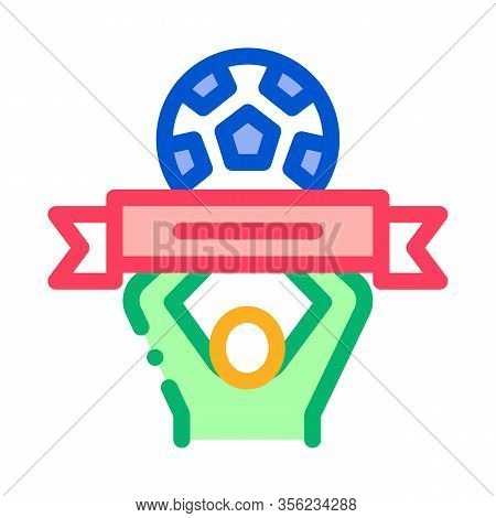 Soccer Above All Icon Vector. Outline Soccer Above All Sign. Isolated Contour Symbol Illustration