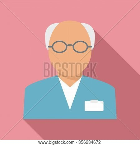 Old Pharmacist Icon. Flat Illustration Of Old Pharmacist Vector Icon For Web Design