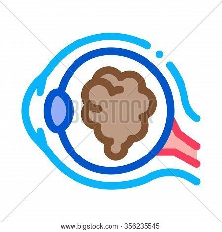 Cataract Eyes Icon Vector. Outline Cataract Eyes Sign. Isolated Contour Symbol Illustration