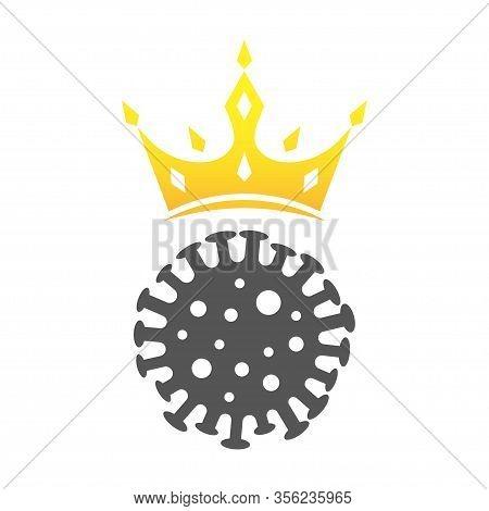 Coronavirus Sign. Covin-2019 Icon In Flat Style. Eps 10