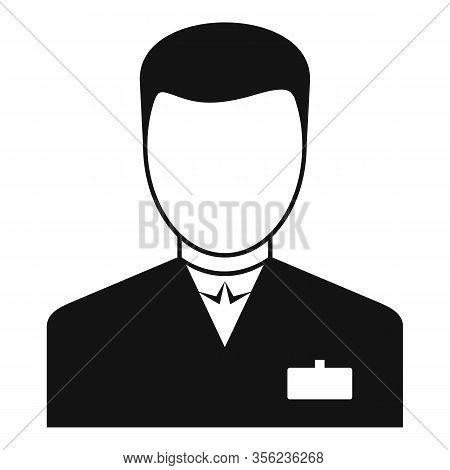 Man Pharmacist Icon. Simple Illustration Of Man Pharmacist Vector Icon For Web Design Isolated On Wh