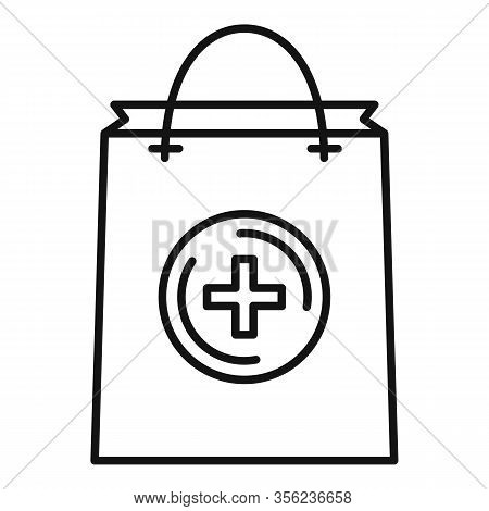 Pharmacist Pill Bag Icon. Outline Pharmacist Pill Bag Vector Icon For Web Design Isolated On White B