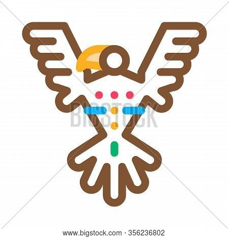 Sacred Totem Bird Icon Vector. Outline Sacred Totem Bird Sign. Isolated Contour Symbol Illustration