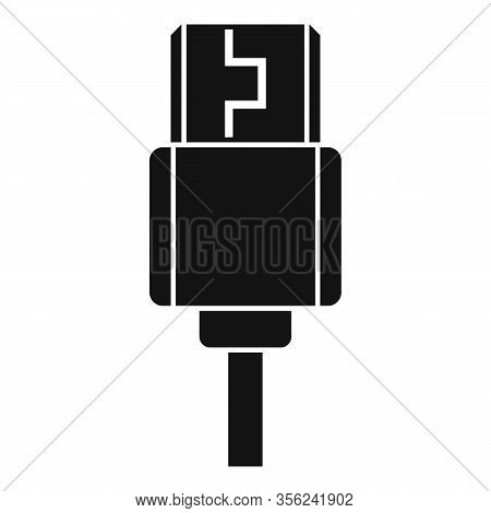 Type C Cable Icon. Simple Illustration Of Type C Cable Vector Icon For Web Design Isolated On White