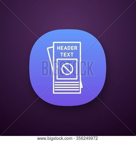 Protest Leaflet App Icon. Protest Event Announcement. Social Movement And Propaganda Brochure. Human