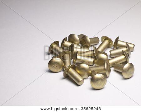 Round rivets.