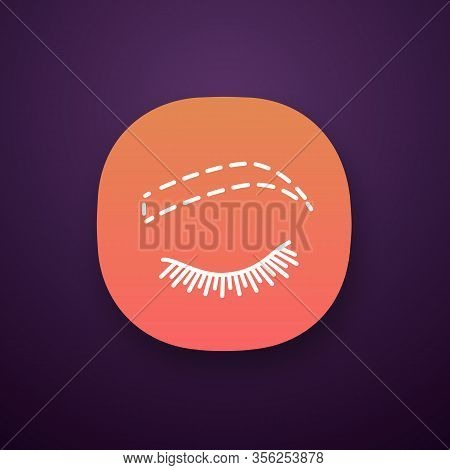 Eyebrow Contouring App Icon. Ui Ux User Interface. Brows Shaping. Eyebrow Makeup. Brows Microblading