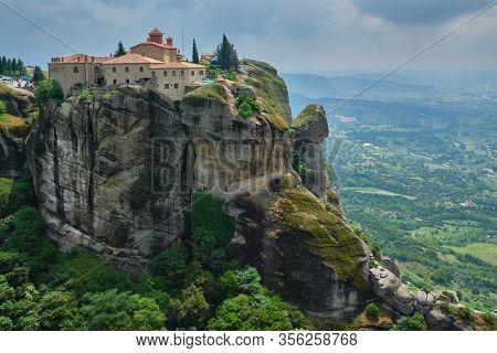 Monastery of St. Stephen in famous greek tourist destination Meteora in Greece