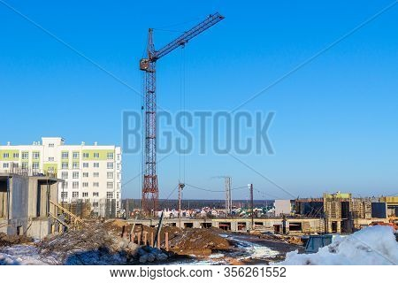 Construction Of A Multi-storey Residential Building Using The Method Of Monolithic Construction Usin