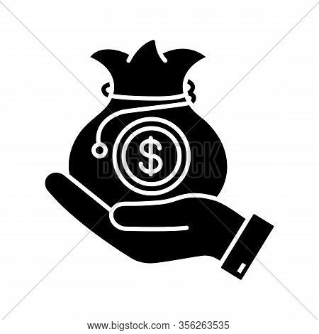 Venture Capital Glyph Icon. Business Funding, Budgeting. Investment Fund. Private Equity. Savings, E