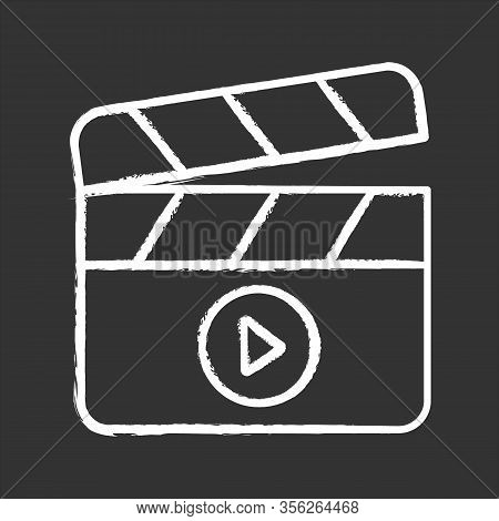 Filming Chalk Icon. Film Industry. Clapperboard. Time Code Slate. Video Production. Cinematography.