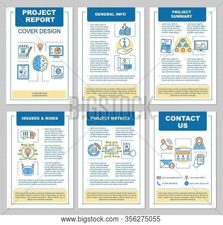 Project Report Brochure Template Layout. Auditing. Flyer, Booklet, Leaflet Print Design With Linear
