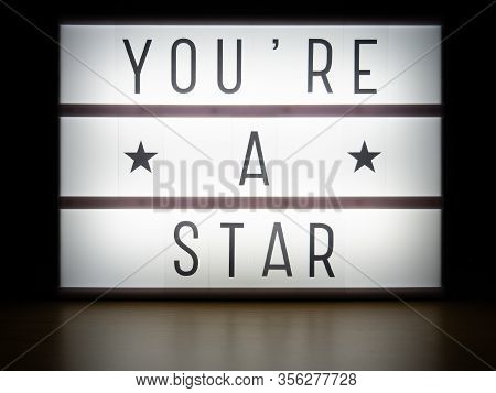 Led Light Box You're A Star Awards Message