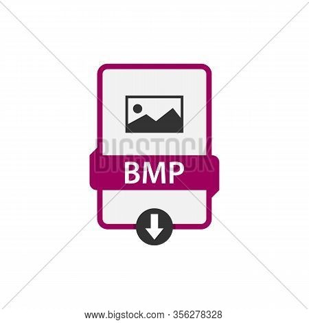 Bmp Download File Format Vector Image. Bmp File Icon Flat Design Graphic Vector