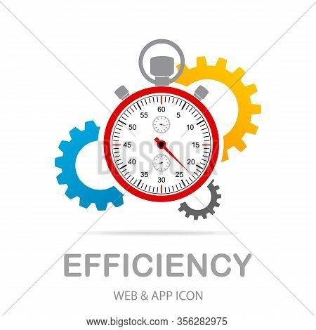 Efficiency Icon Illustration. Creative Sign From Quality Control Icons Collection. Filled Flat Effic