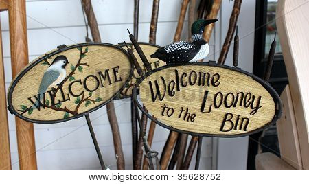 Handcarved welcome signs