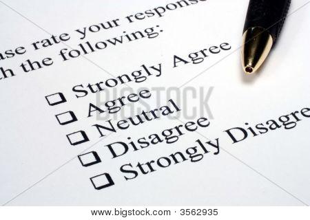 Survey And Pen