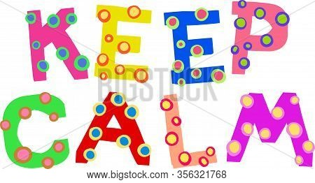 Hand Designed Colorful Font With Funky Dots.
