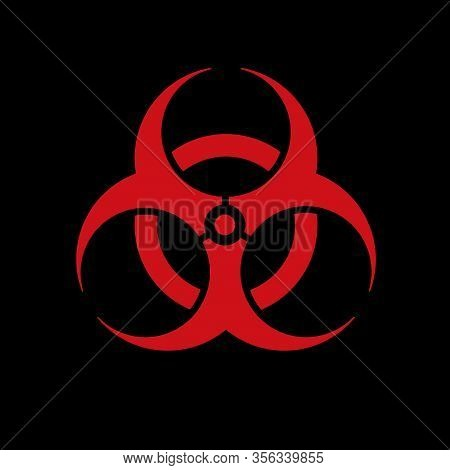 Biohazard Sign (danger Caution Sign), Pandemic Expansion Symbol. The Emblem Of Pathogen Infection An