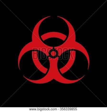 Biohazard Sign (danger Caution Sign), Pandemic Expansion Symbol. The Emblem Of Pathogen Infection An