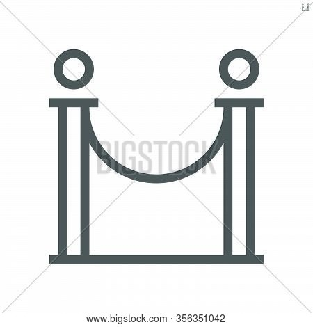 Barricade Stand Of Theater Vector Icon Design.