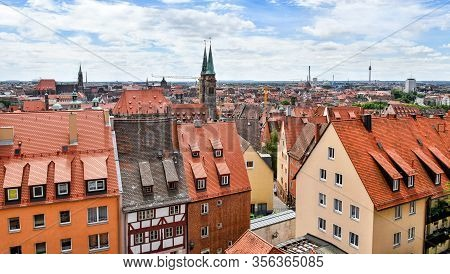 View Over The Franconian City Nuremberg In Bavaria (germany)