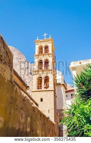 The Bell Tower In The Monastery Of St. Catherine. Sinai, Egypt