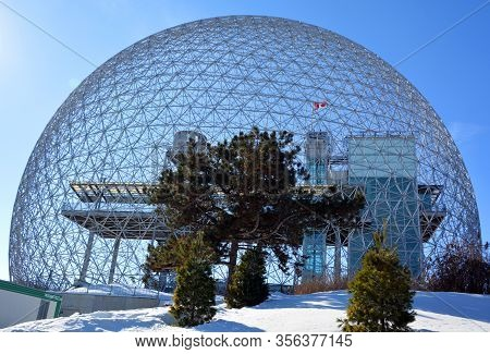 Montreal-canada 04 03 2019: Biosphere Is A Museum In Montreal Dedicated To The Environment. Located