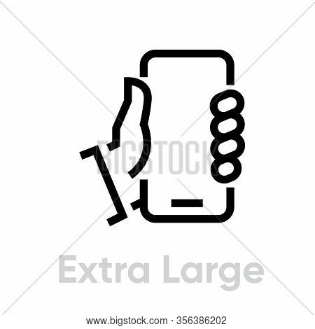 Extra Large Phone Tech Specs Icon. Editable Line Vector.