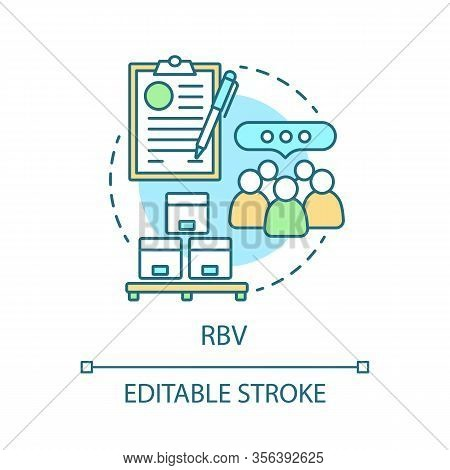 Rbv Concept Icon. Consumerism Idea Thin Line Illustration. Resource-based View. Storage, Warehouse.