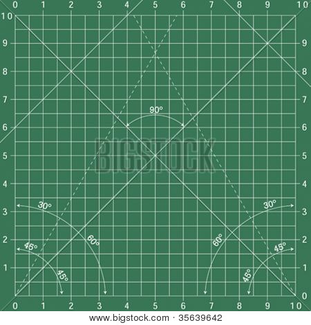 Vector illustration green drawing paper for engineering
