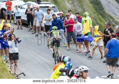 La Chambre, France - July 24, 2015: The Irish Cyclist Dan Martin Of Cannondale-garmin Team,climbing