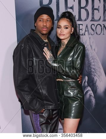 LOS ANGELES - JAN 27:  YG and Kehlani {Object} arrives for the Premiere Of YouTube Originals'