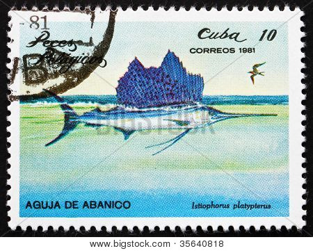 Postage stamp Cuba 1981 Indo-Pacific Sailfish