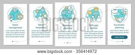 Talent Management Onboarding Mobile App Page Screen Vector Template. Workforce Planning, Talent Acqu