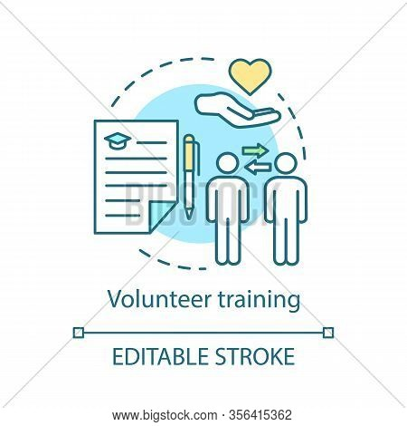 Volunteer Training Concept Icon. Skills Based Volunteering. Nonprofit Organization. Charitable Found