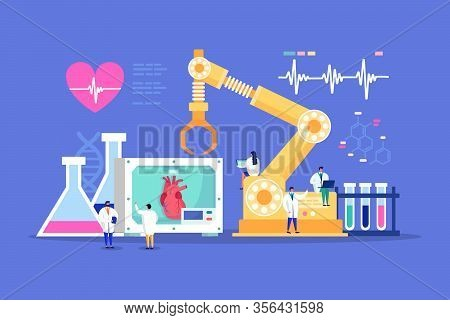 Innovative Lab Tiny People Cardiologist Doctors Medical Discovery For Heart Healthcare, Cardiology M